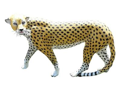 Sculpture Jaguar grandeur nature L-150cm