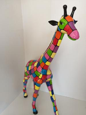 Sculpture Girafe Smarties H-140cm