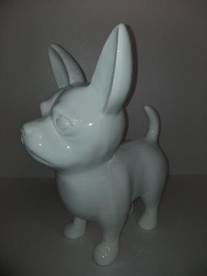 Sculpture Chihuahua S Monochrome ULTRA BRILLANT H-55cm