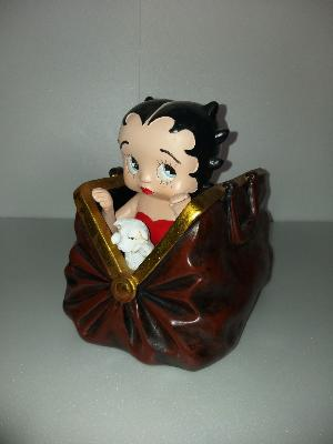 Sculpture betty boop dans un sac H-25cm