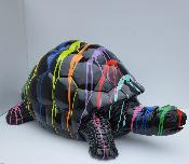 Sculpture Tortue Trash Noir L - 110cm