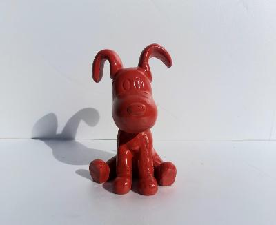 Statue Chien Funny Assis H-30cm