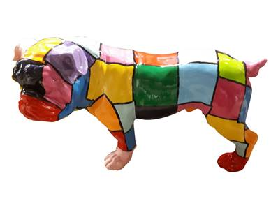 Sculpture en resine Carling Multicolore L-68cm