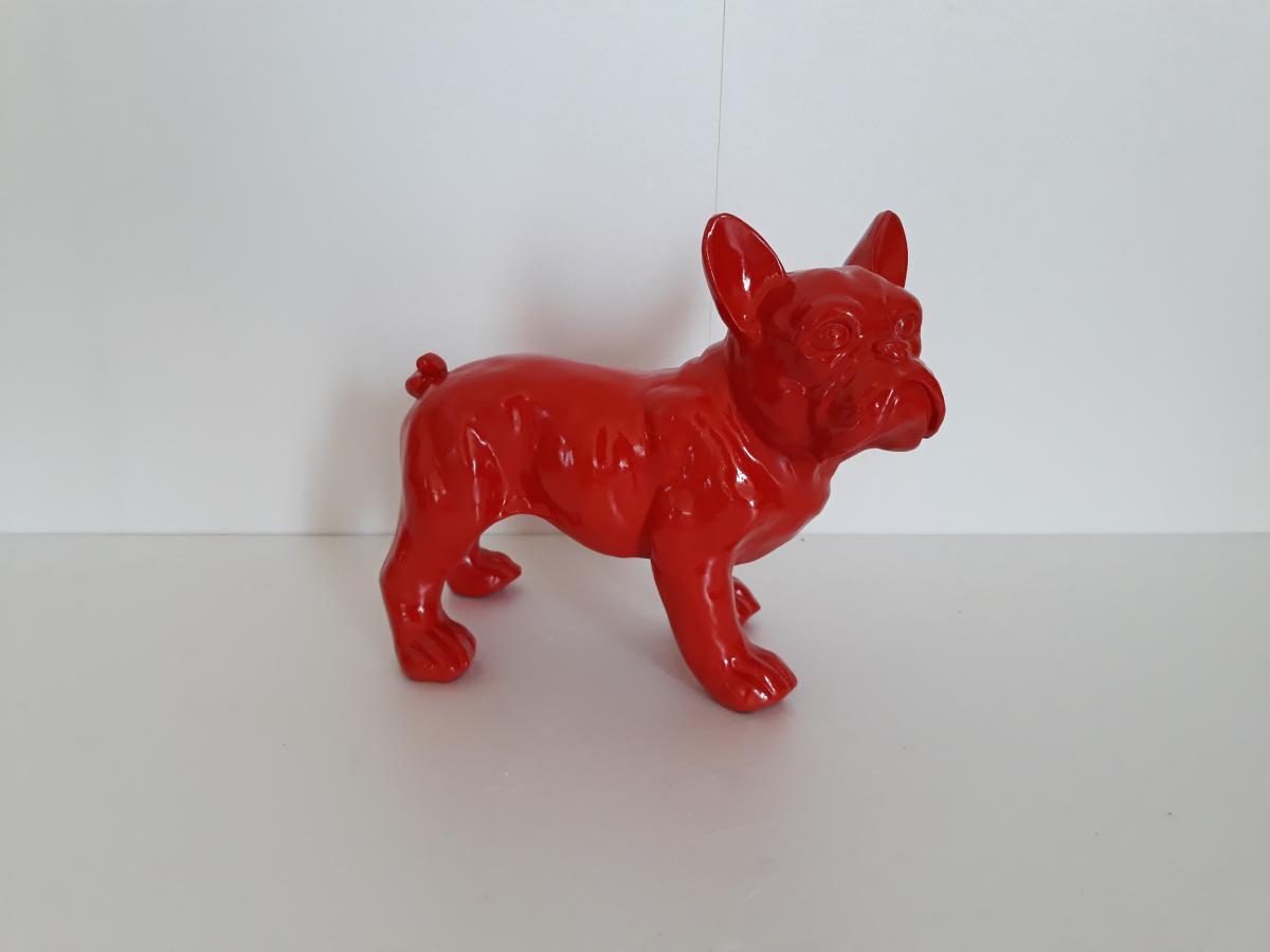 Statue r sine bulldog fran ais h23 cm livraison gratuite - Statue de jardin en resine ...