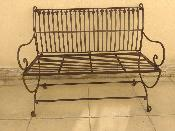 Banc Simple en Fer Forgé - 2 Places - PORT OFFERTE